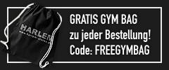 GRATIS GYM BAG zu jeder Bestellung mit dem Gutschein-Code FREEGYMBAG!
