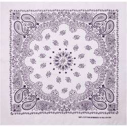 MasterDis Bandana Original Paisley white/purple