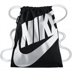 Nike Gym Bag Heritage Gymsack schwarz/weiß