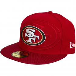 New Era 59Fifty Fitted Cap NFL Sideline SF 49ers rot/weiß