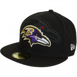 New Era 59Fifty Fitted Cap NFL Sideline Baltimore Ravens schwarz