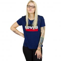 Levis Damen T-Shirt Perfect Sportswear Logo dunkelblau