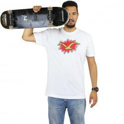 Cleptomanicx T-Shirt Pop Möwe weiß