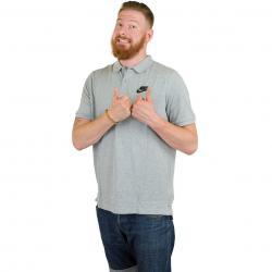 Nike Poloshirt Matchup Piqué grau/schwarz