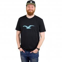 Cleptomanicx T-Shirt Athletic Möwe schwarz