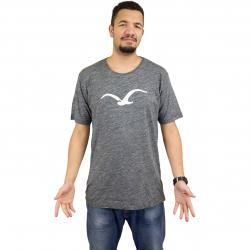 Cleptomanicx T-Shirt Vintage Möwe vintage schwarz