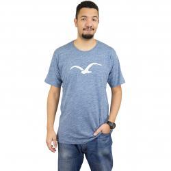 Cleptomanicx T-Shirt Vintage Möwe vintage blau