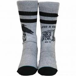 Stance Socken Life´s A Grave grau