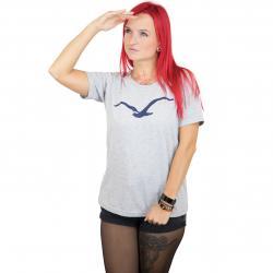 Cleptomanicx Damen T-Shirt Möwe grau
