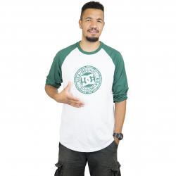 DC Shoes Longshirt Research Raglan grün/weiß