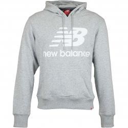 New Balance Hoody Essentials Stacked Logo grau