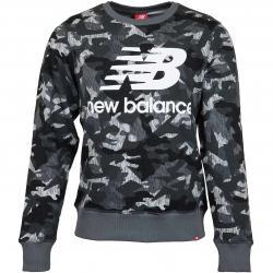 New Balance Sweatshirt Printed Essentials Stacked Logo grau camo