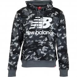 New Balance Hoody Printed Essentials Stacked Logo camouflage