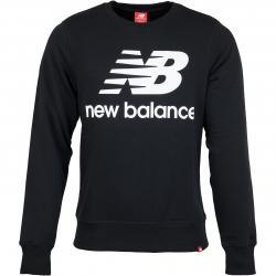 New Balance Sweatshirt Essentials Stacked Logo schwarz