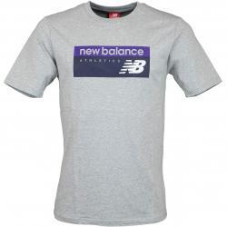 New Balance T-Shirt Athletic Banner grau