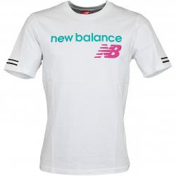 New Balance T-Shirt Athletic Heritage weiss