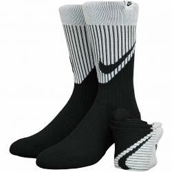 Nike Socken SNKR Swoosh Crew 2er schwarz/grau