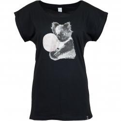 Iriedaily Damen T-Shirt Koala Bubble schwarz