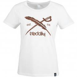 Iriedaily Damen T-Shirt Blotchy Flag offwhite