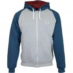Iriedaily Zip-Hoody De College orion blau