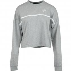 Nike Damen Sweatshirt Jersey grau/weiß