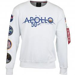 Alpha Industries Sweatshirt 50 Patch weiß