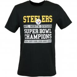 New Era T-Shirt NFL Large Graphic Steelers schwarz