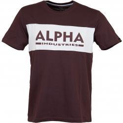 Alpha Industries T-Shirt Inlay dunkelrot/weiß