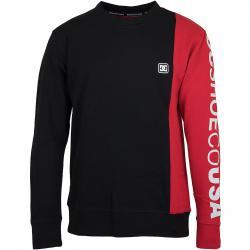 DC Sweatshirt Wepma schwarz/rot