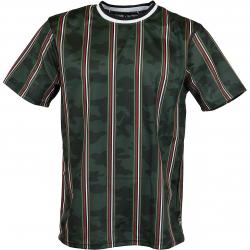 Southpole T-Shirt Thin Vertical Stripes camo