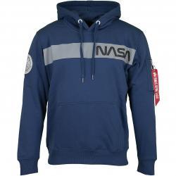 Alpha Industries Hoody NASA RS dunkelblau