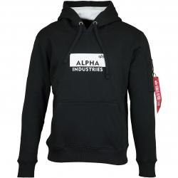 Alpha Industries Hoody Box Logo schwarz