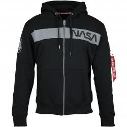 Alpha Industries Zip-Hoody NASA RS Zip schwarz