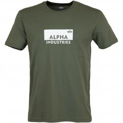 Alpha Industries T-Shirt Box Logo oliv