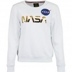 Alpha Industries Damen Sweatshirt NASA PM weiß/gold