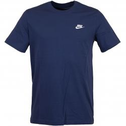 Nike T-Shirt Club dunkelblau/weiß