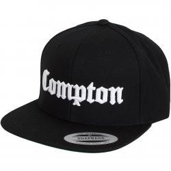 Mister Tee Snapback Cap Compton schwarz/weiß