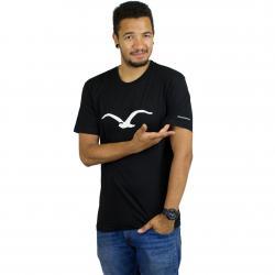 Cleptomanicx T-Shirt Möwe schwarz