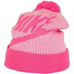 Nike Damen Beanie Cuffed Pom pink/weiß