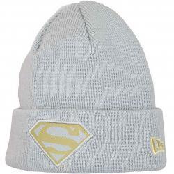 New Era Kinder Beanie Character Knit Superman grau/gold