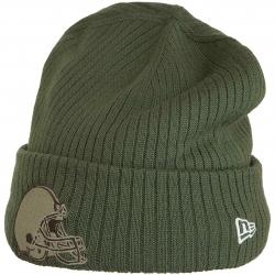 New Era Beanie OnField 18 STS Cleveland Browns oliv