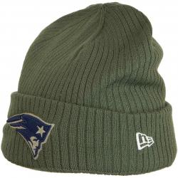 New Era Beanie OnField 18 STS New England Patriots oliv