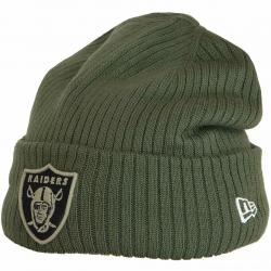 New Era Beanie OnField 18 STS Oakland Raiders oliv
