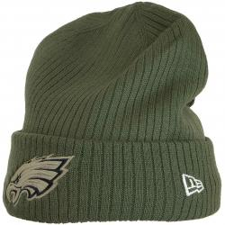 New Era Beanie OnField 18 STS Philadelphia Eagles oliv
