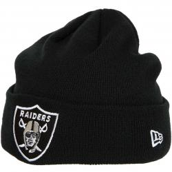 New Era Beanie Team Essential Cuff Oakland Raiders schwarz