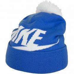Nike Beanie Cuffed Pom blau/weiß