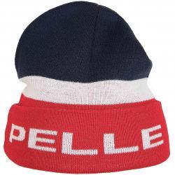 Pelle Pelle Beanie Linear dunkelblau/rot