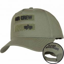 Alpha Industries Snapback Cap Air Crew dunkelgrün