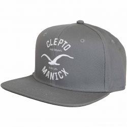 Cleptomanicx Snapback Cap Games grau