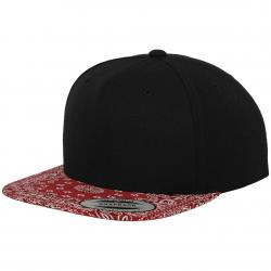 Bandana Snapback Cap black/red